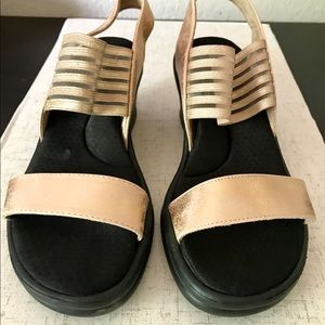 Sketchers slip on wedge sandals like new